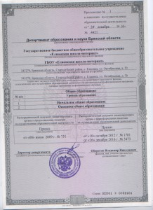 Прилож. к лицензии